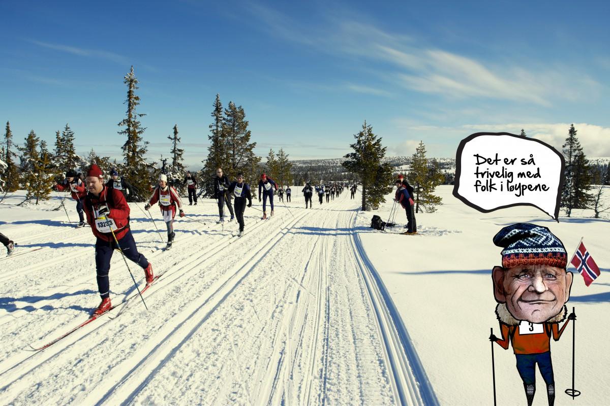 Fra Birkebeinerrennet 2008. Birken ski langrenn