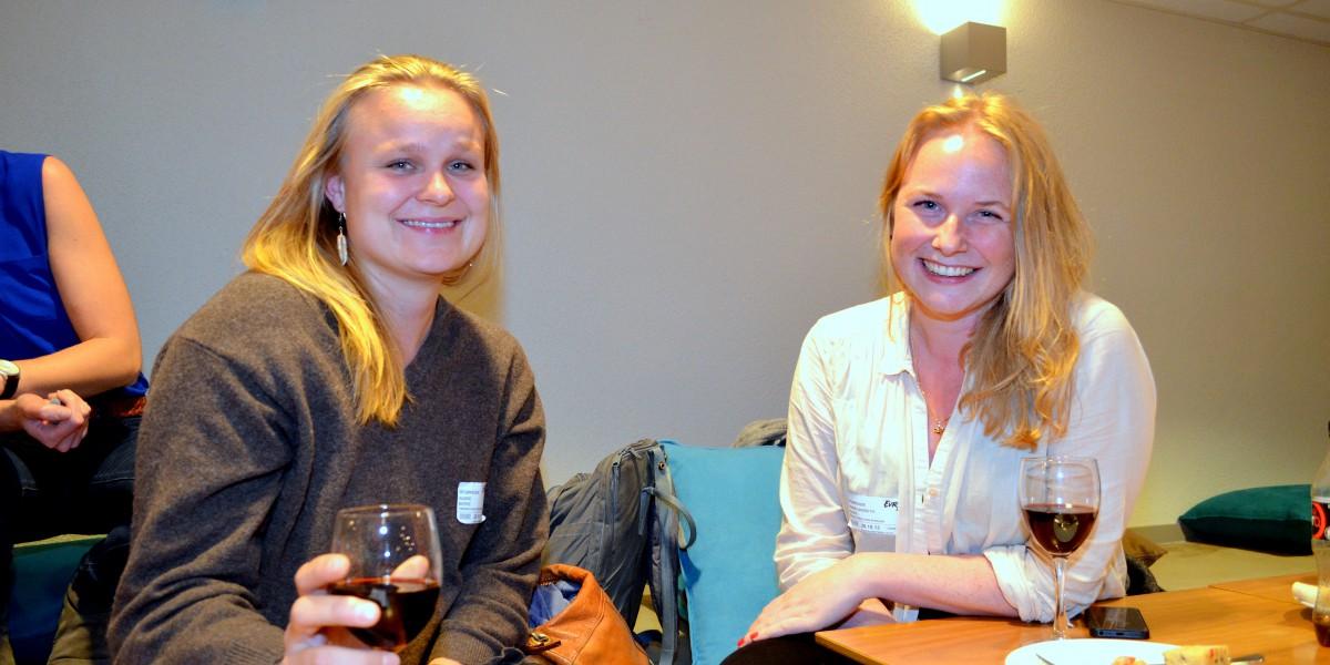 Ingrid Berre (t.v.) og Hanna Undset Hagen mener mulighetene er mange i Elverumregionen.