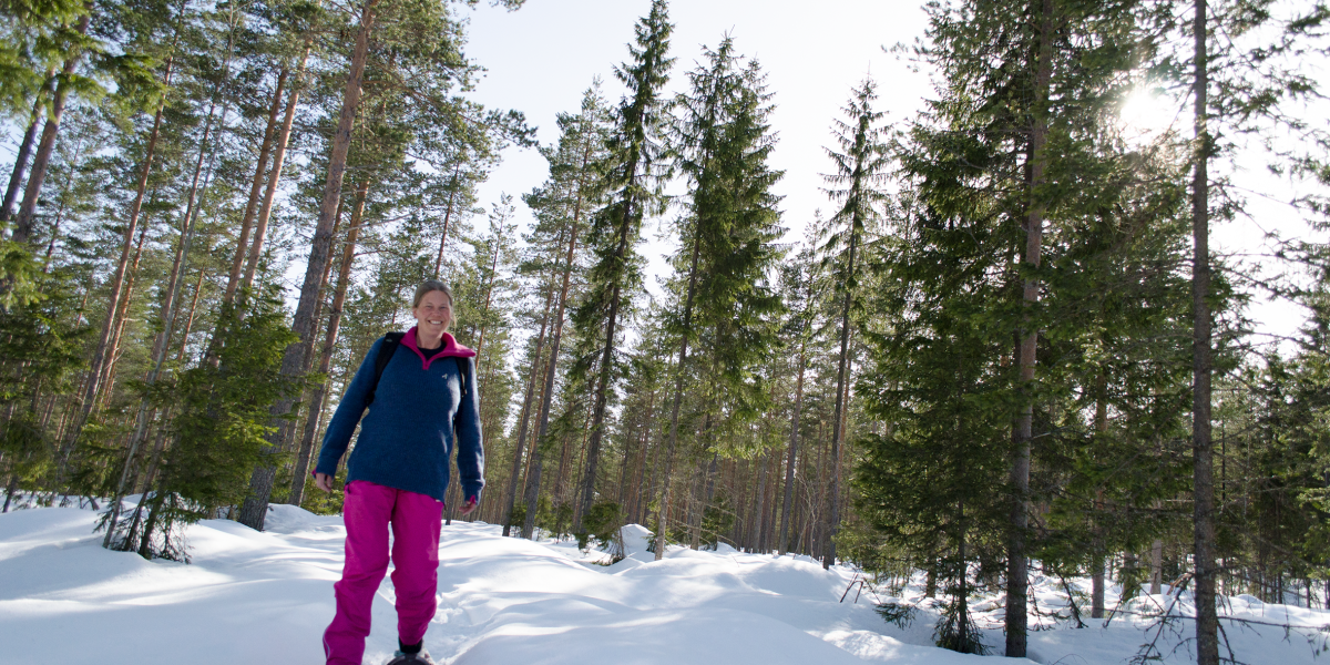 Anette Jakobsen har i løpet av vinteren gått omlag 30 fjellturer på truger - og flere skal det bli.